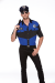 Police Fancy Shirt With Hat - Blue & BlackXL